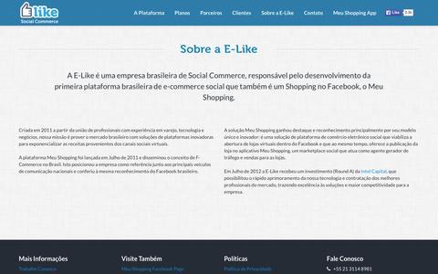 Screenshot of About Page elike.com.br - E-Like Social Commerce - captured Dec. 3, 2015