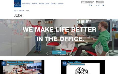Screenshot of Jobs Page blue.hu - Blue - Blue Business Interior - captured Nov. 22, 2016