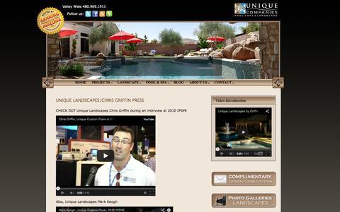 Screenshot of Press Page unique-landscapes.com - Press   Phoenix Landscaping Design & Pool Builders, Remodeling - captured Oct. 9, 2014