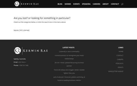 Sitemap - Kerwin Rae