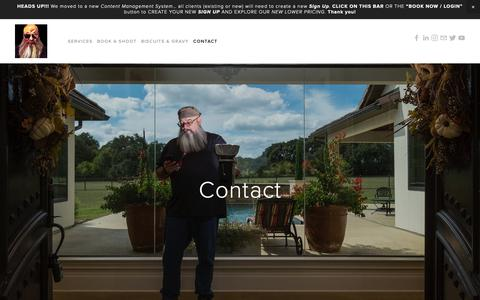 Screenshot of Contact Page craigmac.tv - Contact — CraigMac Visuals - captured Nov. 11, 2018