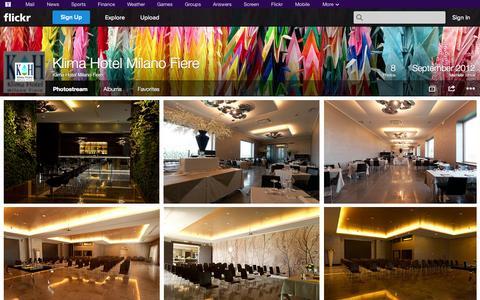 Screenshot of Flickr Page flickr.com - Flickr: Klima Hotel Milano Fiere's Photostream - captured Oct. 23, 2014