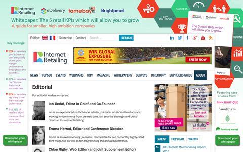 Screenshot of Team Page internetretailing.net - Editorial - InternetRetailing - captured Sept. 5, 2017