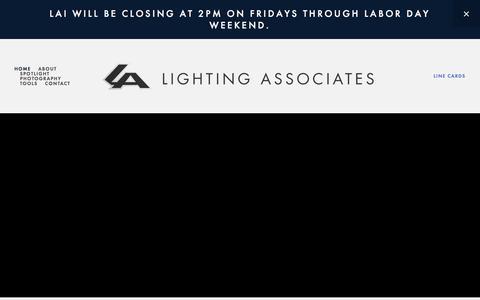 Screenshot of Home Page laiweb.net - LIGHTING ASSOCIATES, INC. - captured Aug. 4, 2017