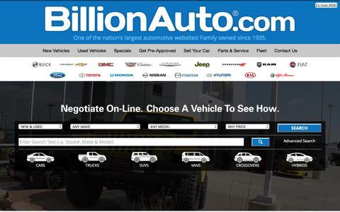 New and Used Cars - BillionAuto.com