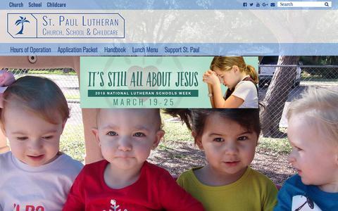 Screenshot of FAQ Page stpaulmcallen.org - St. Paul Lutheran Childcare – McAllen TX – St. Paul Lutheran Childcare - captured Feb. 17, 2018