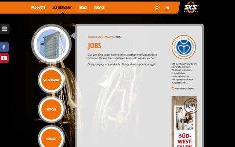 Screenshot of Jobs Page sks-germany.com - Jobs – SKS-Germany - captured Sept. 12, 2016