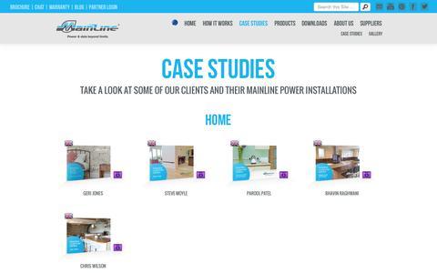 Screenshot of Case Studies Page mainlinepower.com - Mainline Power - captured Oct. 2, 2014