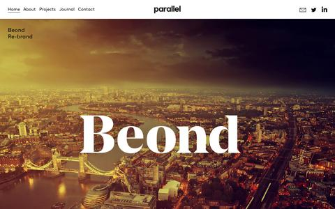 Screenshot of Home Page studioparallel.co.uk - A London design agency working across digital and print | Parallel design studio - captured Oct. 28, 2015