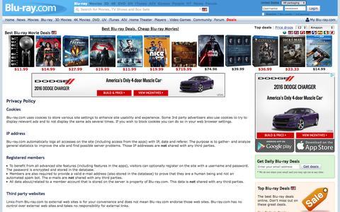 Screenshot of Privacy Page blu-ray.com - Blu-ray.com - Privacy Policy - captured Aug. 20, 2016