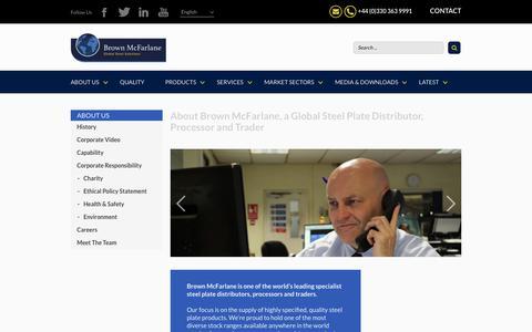 Screenshot of About Page brownmac.com - Steel Stockholders UK | Structural Steel - Brown McFarlane - captured Oct. 11, 2017