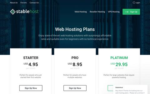 Unlimited Web Hosting | StableHost