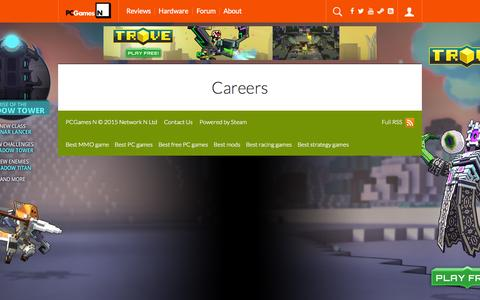 Screenshot of Jobs Page pcgamesn.com - Careers | PCGamesN - captured Oct. 1, 2015