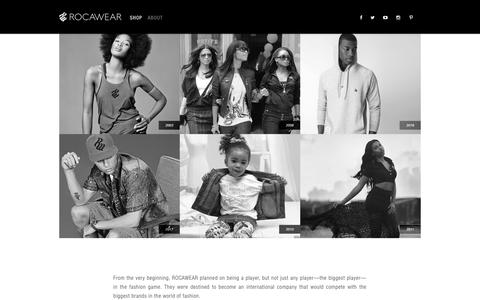 Screenshot of About Page rocawear.com - Rocawear - captured Nov. 3, 2018