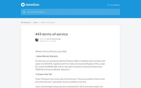 443-terms-of-service   Mention Help Center