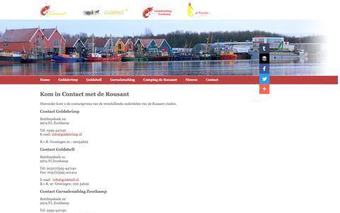 Screenshot of Contact Page rousant.nl - Contact | De Rousant - captured May 28, 2016