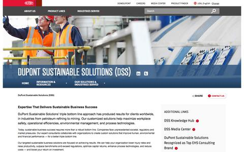 Sustainable Business l DuPont Sustainable Solutions (DSS) | DuPont USA
