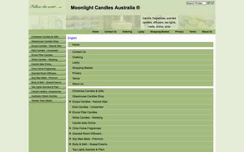 Screenshot of Site Map Page Menu Page moonlightcandles.com.au - Map - captured Oct. 26, 2014