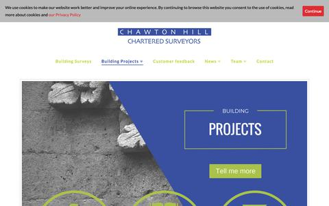 Screenshot of Services Page chawtonhill.com - Surveying Services Surrey - Chawton Hill Chartered Surveyors - captured Sept. 27, 2018