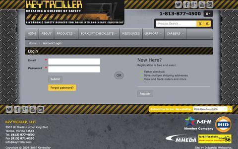 Screenshot of Login Page keytroller.com - Account Login - captured Feb. 12, 2016