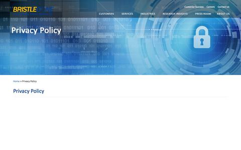 Screenshot of Privacy Page bcone.com - Privacy Policy | Bristlecone - captured Jan. 17, 2016