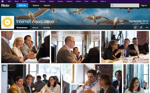 Screenshot of Flickr Page flickr.com - Flickr: Internet Association's Photostream - captured Oct. 26, 2014