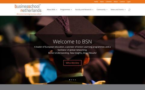 Screenshot of Home Page bsn.eu - Home - BSN - Business School Netherlands - captured May 29, 2017