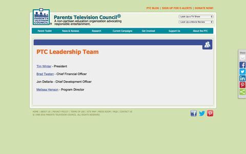 Screenshot of Team Page parentstv.org - PTC Leadership Team - captured Dec. 25, 2016