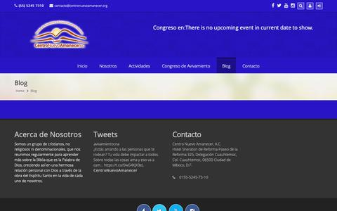 Screenshot of Blog centronuevoamanecer.org - Centro Nuevo Amanecer AC  –  Blog - captured Sept. 27, 2018