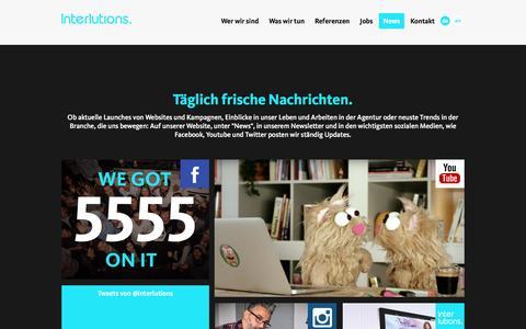 Screenshot of Press Page interlutions.de - News | Webdesign, Symfony, Webentwicklung, Online-Marketing | Interlutions GmbH - captured Jan. 15, 2016