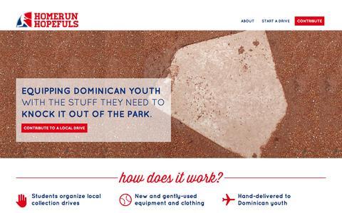 Screenshot of Home Page homerunhopefuls.org - Welcome to Homerun Hopefuls | Homerun Hopefuls - captured Sept. 30, 2014