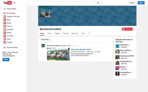 Screenshot of YouTube Page youtube.com - MeridianOnlineMall  - YouTube - captured Oct. 29, 2014