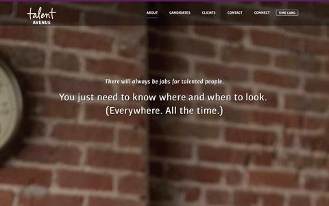 Screenshot of Services Page talentavenue.com - Services   Talent Avenue - captured Sept. 30, 2014