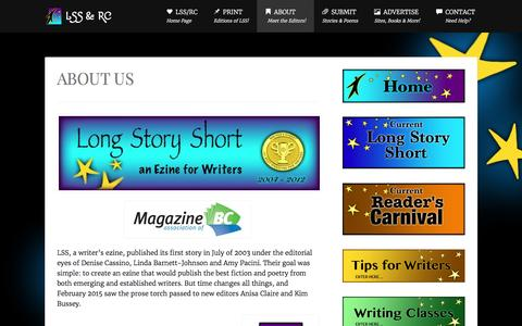 Screenshot of About Page alongstoryshort.net - ABOUT US » LSS & RC - captured May 31, 2016