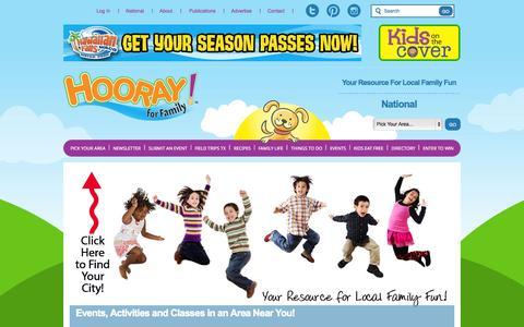 Screenshot of Home Page hoorayforfamily.com - Hooray For Family | Home - captured June 17, 2015