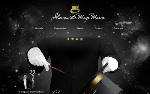 Screenshot of Home Page magomarco.com - Ilusionista | España | Mago Marco - captured Dec. 1, 2018