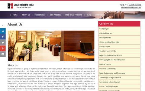 Screenshot of About Page legalhelplineindia.com - About Us - Legal Helpline India Legalhelplineindia - captured Dec. 8, 2018