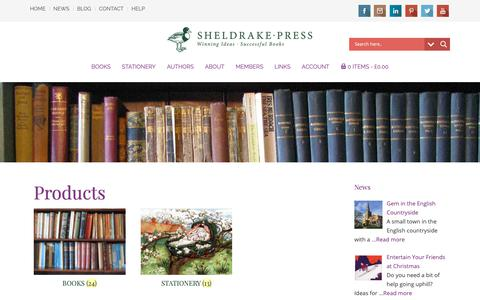 Screenshot of Products Page sheldrakepress.co.uk - Illustrated Books and Fine Stationery Products - Sheldrake Press - captured Nov. 19, 2018