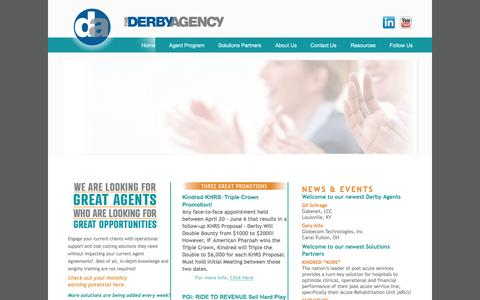 Screenshot of Home Page derby-agency.com - Derby Agency - captured Aug. 14, 2015