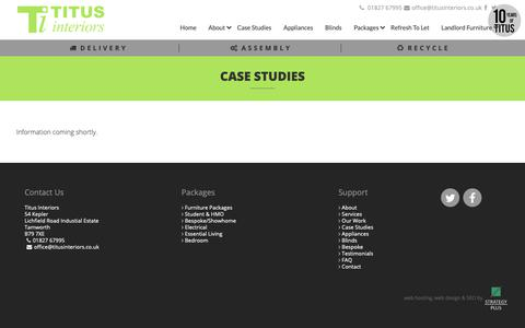 Screenshot of Case Studies Page titusinteriors.co.uk - Titus Interiors - Your Total Furnishing Solution - captured Oct. 20, 2018