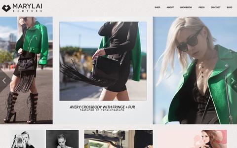 Screenshot of Home Page marylai.com - MARYLAI New York | High contemporary luxury handbags - captured Jan. 28, 2015
