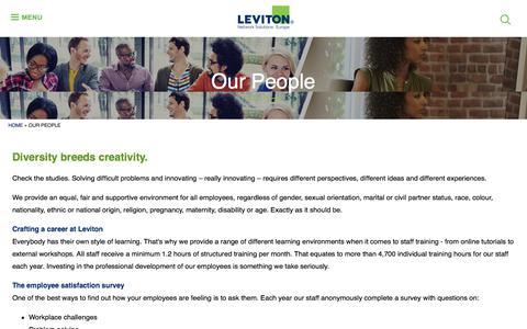 Screenshot of Team Page brand-rex.com - Our People | Leviton Network Solutions Europe - captured Aug. 3, 2018