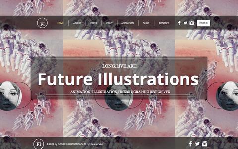 Screenshot of Home Page futureillustrations.com - artwork - captured Sept. 30, 2014