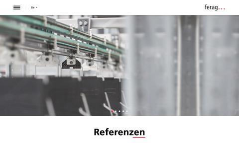 Screenshot of Home Page denipro.com - Ferag AG - intelligente Fördertechnik - Fördern, Sortieren und Lagern/Puffern | Ferag AG - captured Oct. 8, 2018
