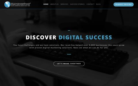 Screenshot of Home Page mainstreethost.com - SEO & Search Engine Marketing Services | Mainstreethost: Digital Marketing Agency Since 1999 - captured Oct. 27, 2015