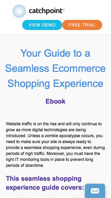 Guide to Seamless Ecommerce Shopping Experience | Catchpoint