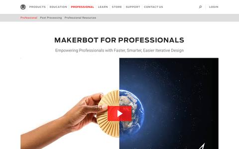 3D Printing Tools for Professionals | MakerBot
