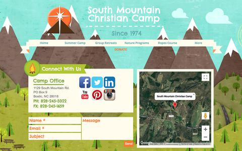 Screenshot of About Page southmountainchristiancamp.org - South Mountain Christian Camp | about | Bostic NC - captured July 18, 2019