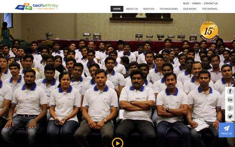 Screenshot of Home Page techaffinity.com - Web & Mobile Application Service | Big Data Analytics- TechAffinity - captured Nov. 3, 2015