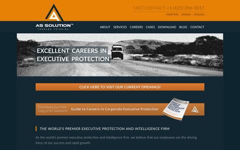 Screenshot of Jobs Page assolution.com - Careers - AS Solution AS Solution - captured Dec. 23, 2015